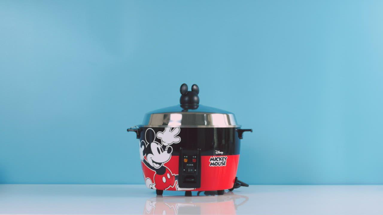 迪士尼米奇系列 11人份 304不鏽鋼電鍋-質感黑 product video thumbnail