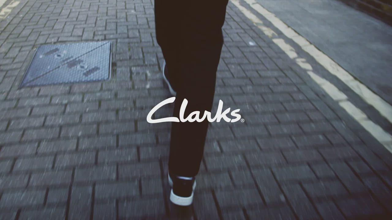 Clarks 步步清新 簡約復古精緻縫線設計休閒男鞋 赭色 product video thumbnail