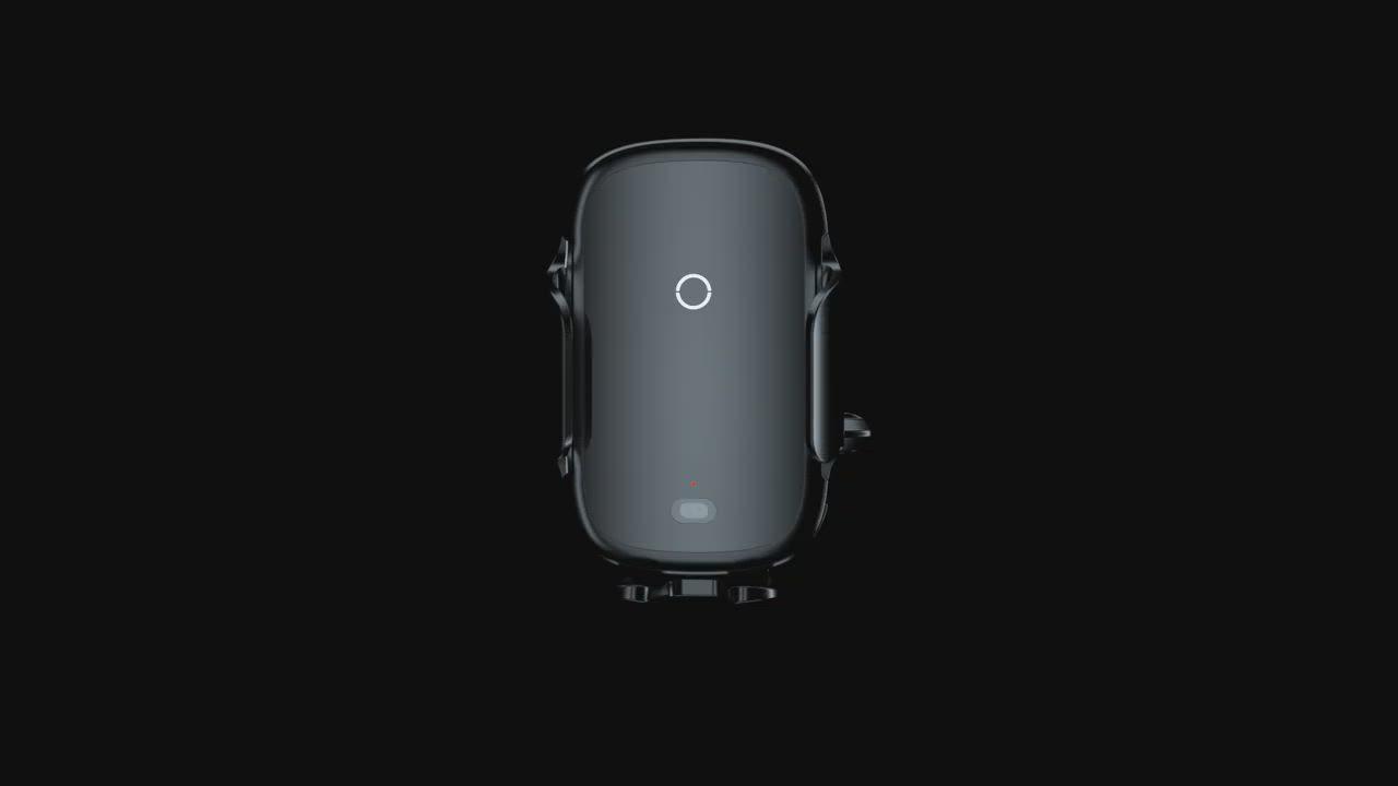 【Baseus倍思】City Lights 光線電動無線充 車載支架 手機架 product video thumbnail