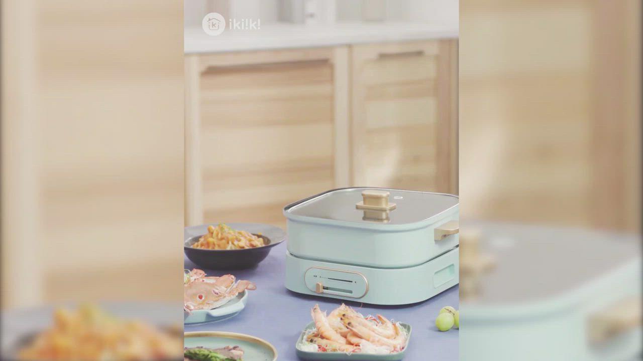 Ikiiki伊崎 2in1方型3公升煮藝鍋IK-MC3401 product video thumbnail