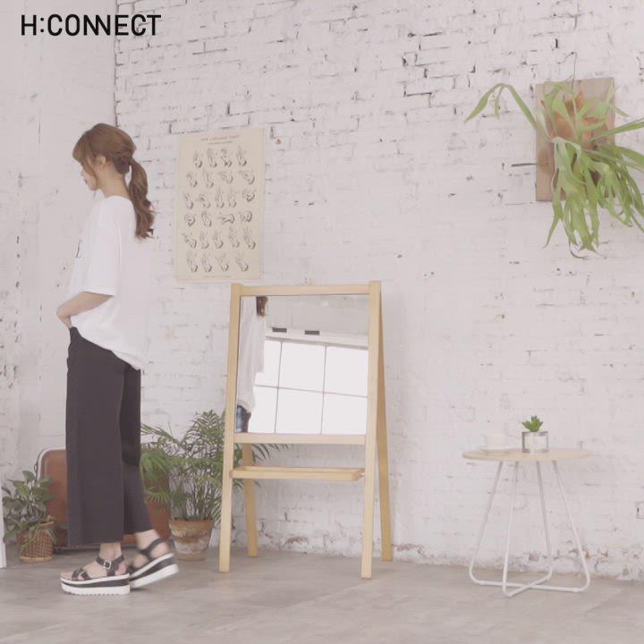 H:CONNECT 韓國品牌 女裝-抓皺修身牛仔寬褲-黑 product video thumbnail