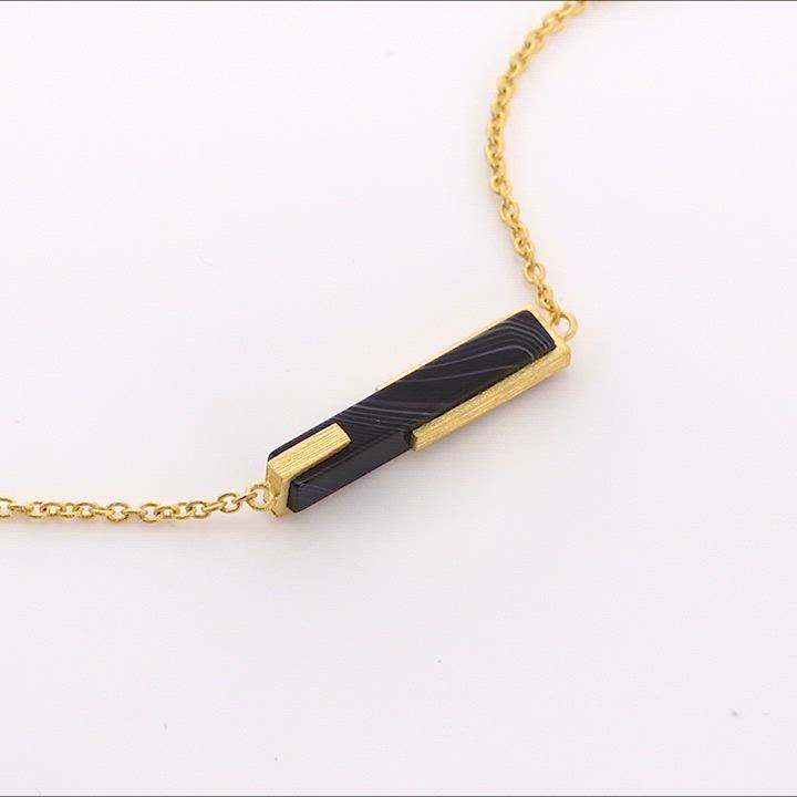 點睛品 g* 系列 黑瑪瑙黃金項鍊 product video thumbnail