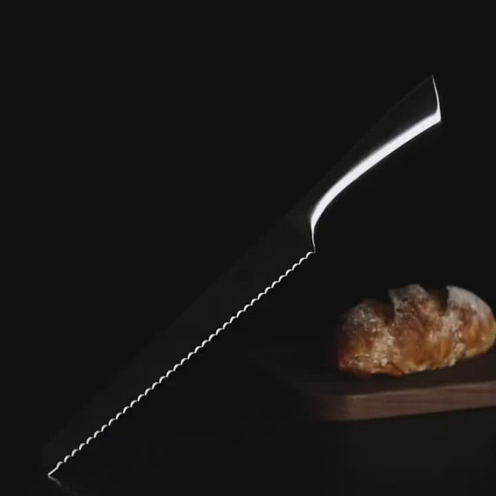 PUSH!廚房用品不銹鋼鋸齒刀切土司麵包刀切片刀蛋糕烘焙刀8寸D218 product video thumbnail