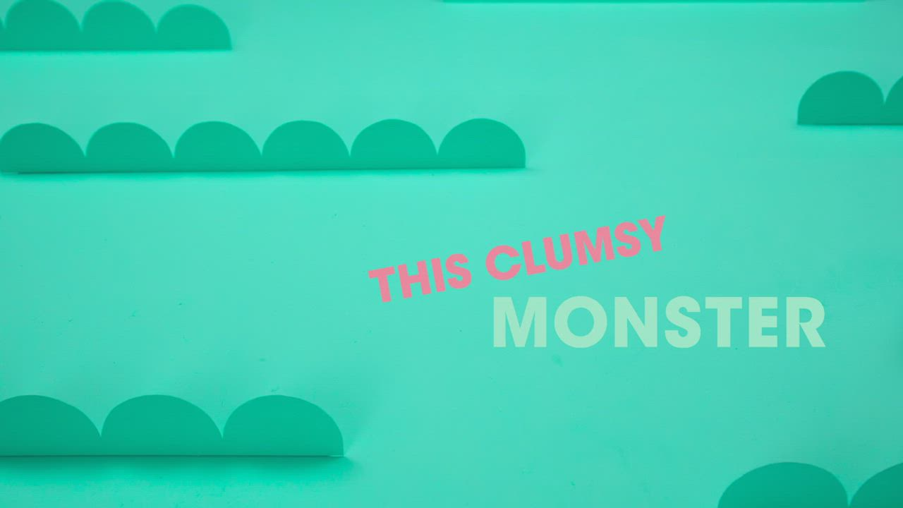 This Clumsy Monster 笨手笨腳的怪物造型硬頁書 product video thumbnail