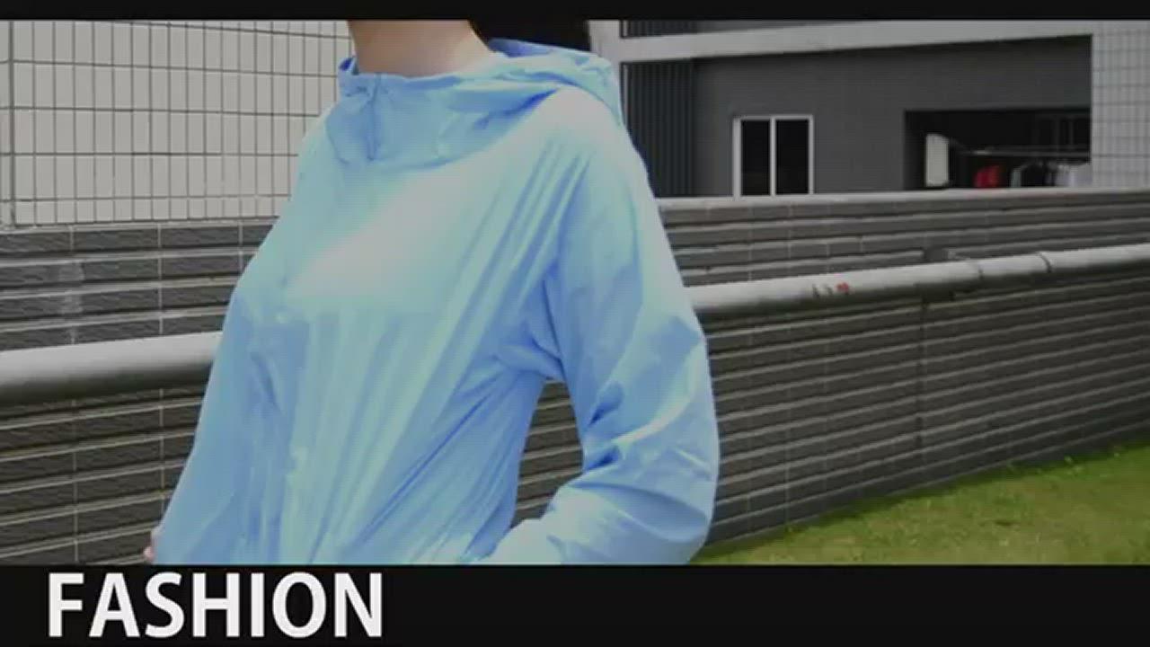 夏天必備 SGS三項認證 超輕薄涼感防曬衣(男女四色可選) product video thumbnail