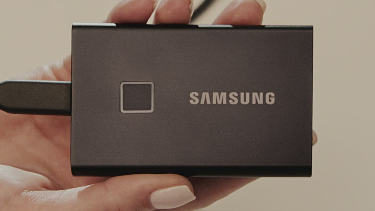 SAMSUNG 三星T7 Touch 2TB USB 3.2 Gen 2移動固態硬碟 經典黑 (MU-PC2T0K/WW) product video thumbnail