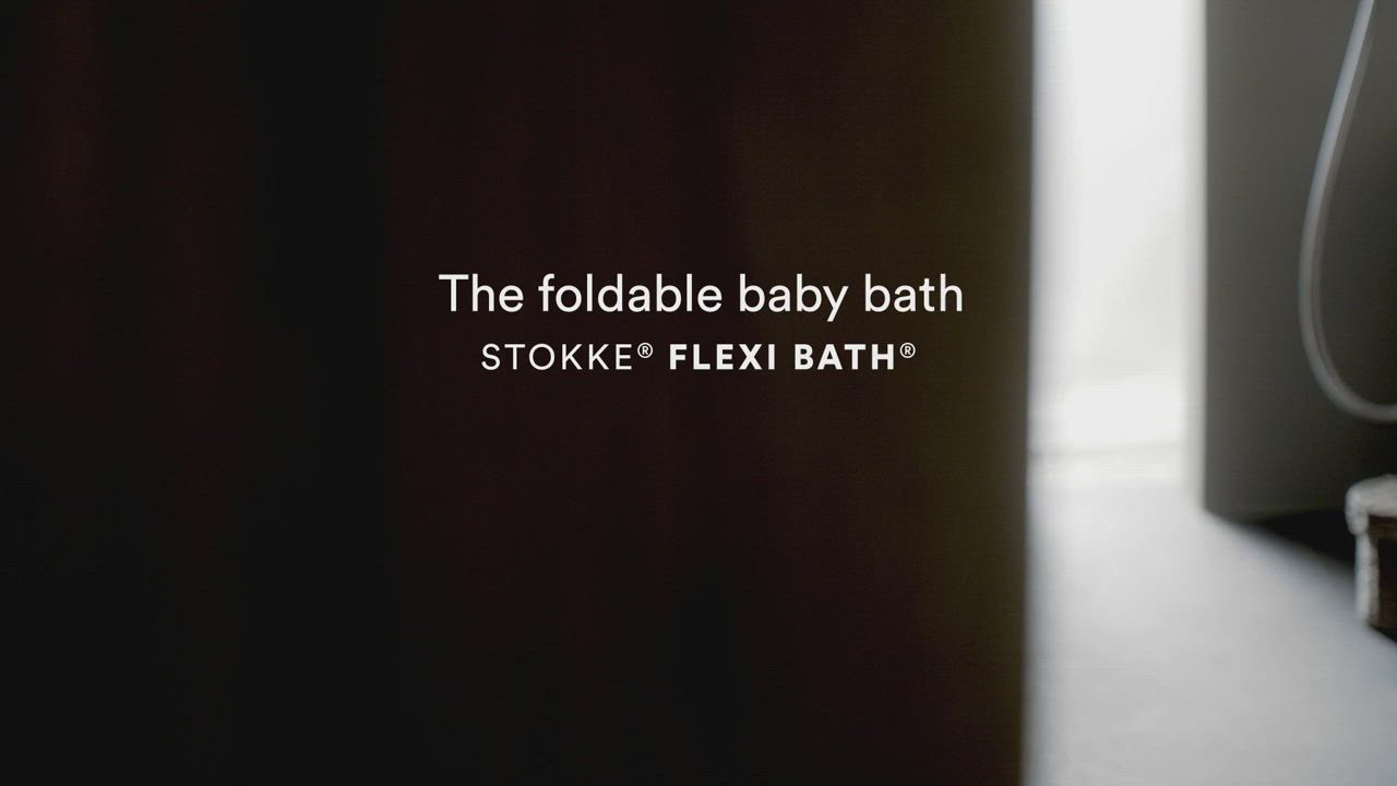 Stokke FlexI Bath 折疊式浴盆套裝-感溫水塞(浴盆+浴架)-透明粉 product video thumbnail