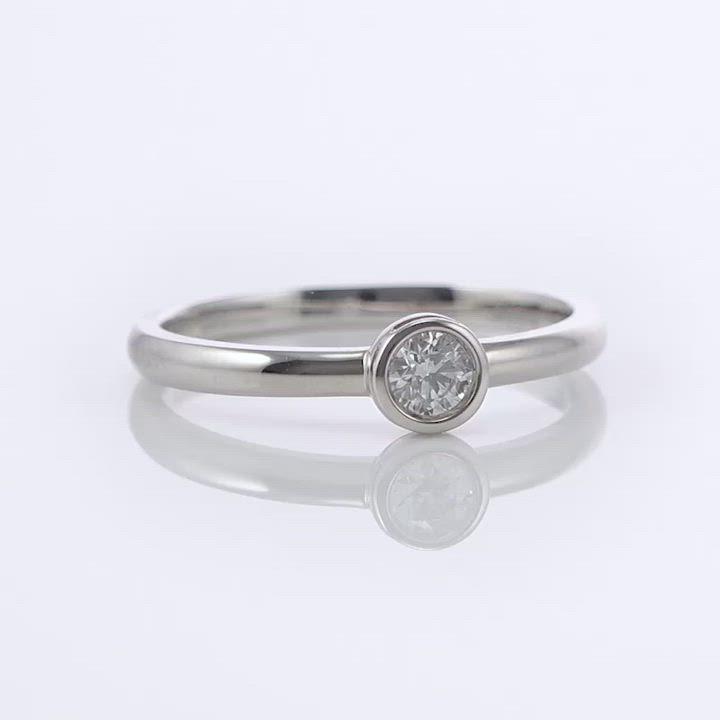 點睛品-INFINI LOVE DIAMOND-Iconic系列- 0.5克拉鑽石戒指 product video thumbnail
