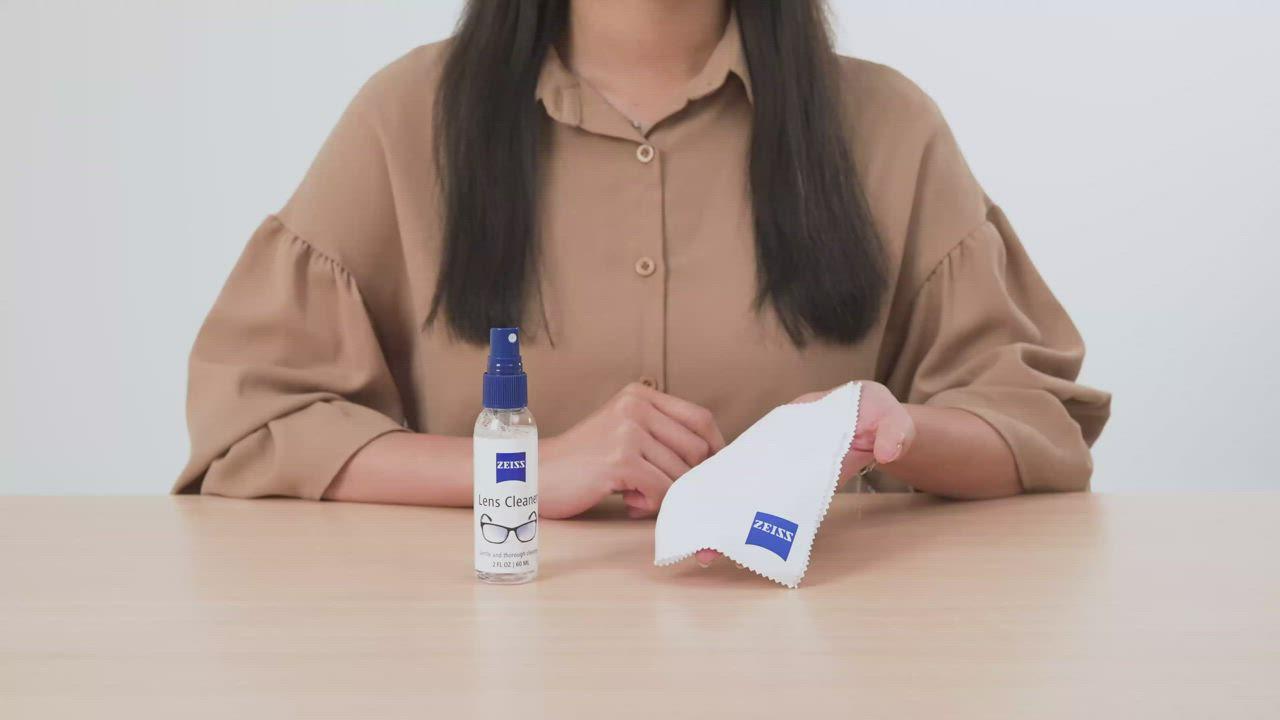 蔡司 Zeiss Microfiber Cloth 超細纖維布+抗菌拭鏡紙/20張 product video thumbnail