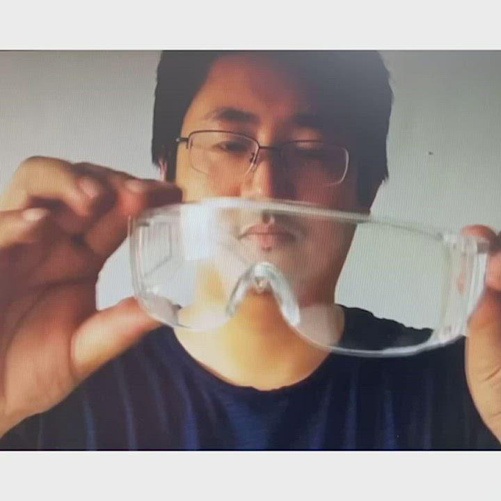 DF 生活館 - 防疫護目鏡2入組 透明防止飛沫護目鏡 戴眼鏡可用 product video thumbnail