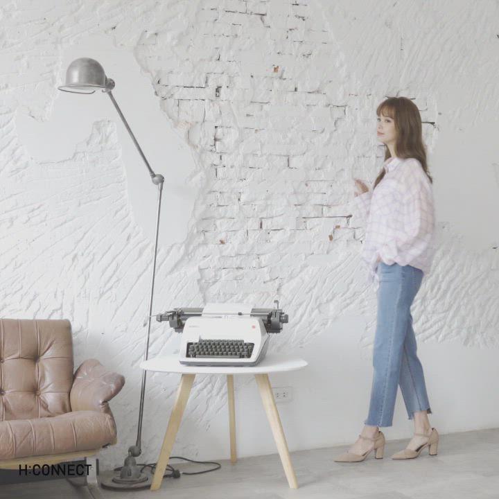 H:CONNECT 韓國品牌 女裝-綁結輕薄格紋襯衫-紫 product video thumbnail