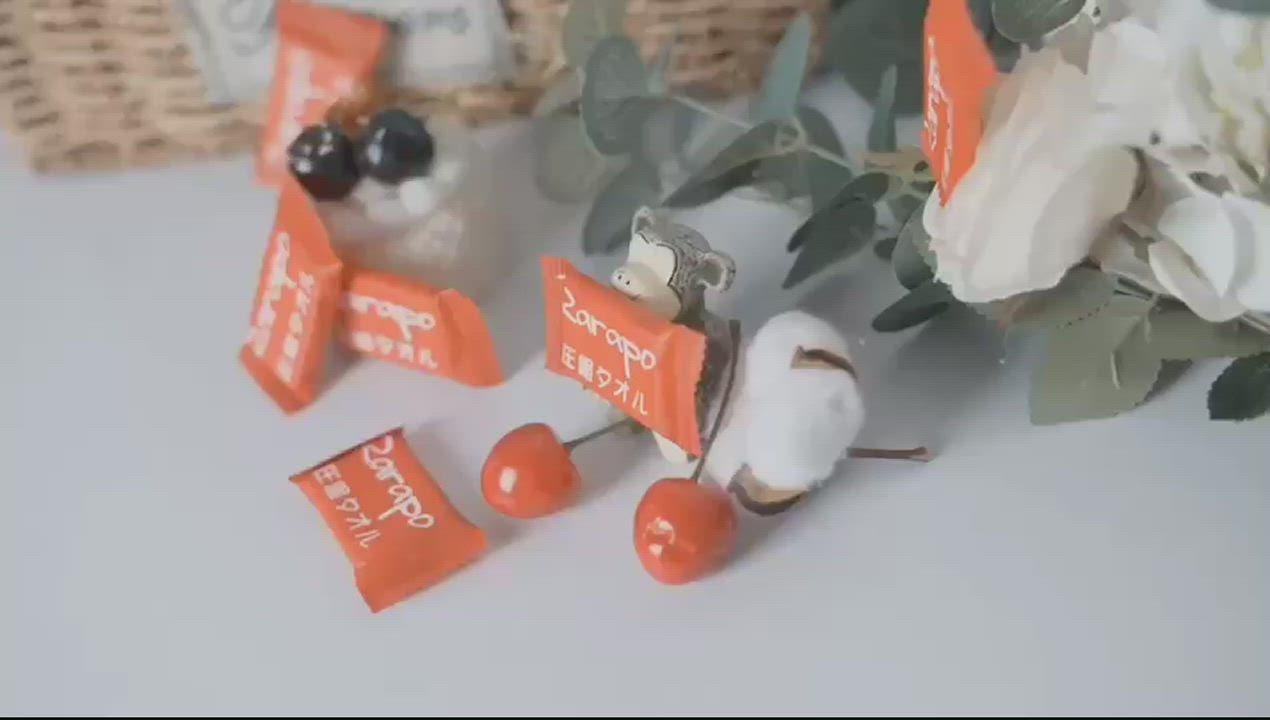【Ito 日本伊藤】旗下RARAPO 壓縮毛巾 方便攜帶/一次性/潔面巾/毛巾浴巾 (一包20枚) product video thumbnail