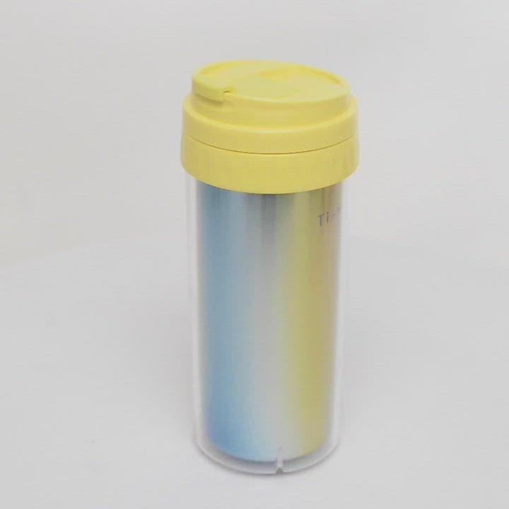 TiANN 鈦安純鈦餐具 水好喝隨行杯550ml (送水壺&杯蓋4色可選) product video thumbnail