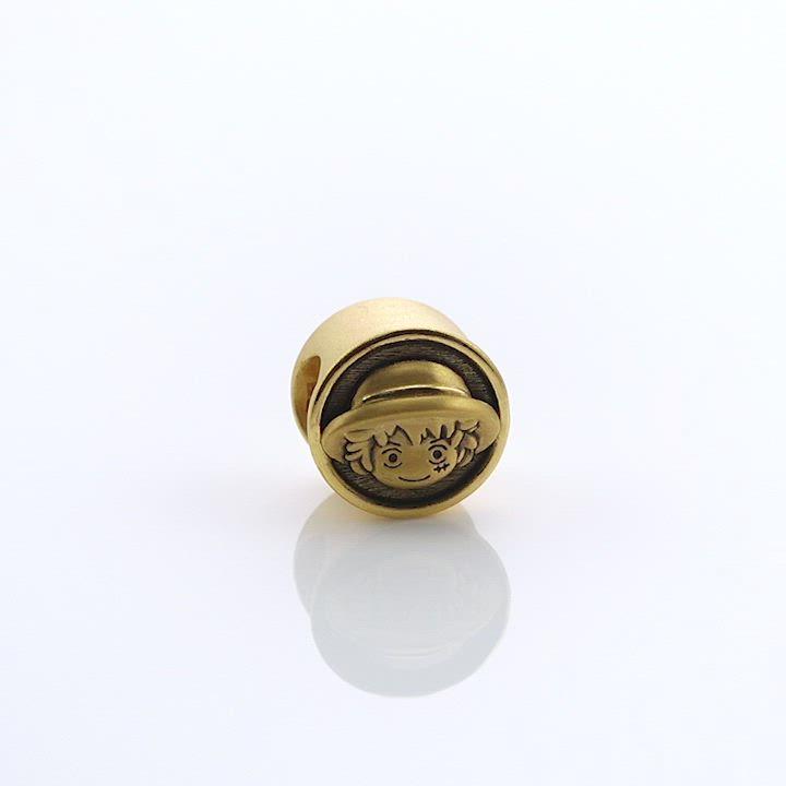 點睛品 Charme XL 航海王One Piece 魯夫 黃金串珠 product video thumbnail