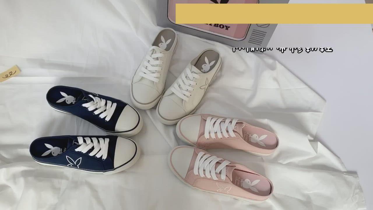 PLAYBOY活力甜心休閒綁帶穆勒鞋-藍-Y6223FF product video thumbnail