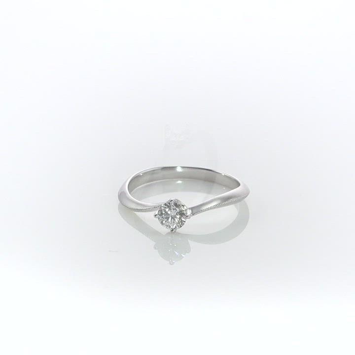點睛品 Promessa 唯一 GIA 0.30克拉18K金鑽石戒指 product video thumbnail