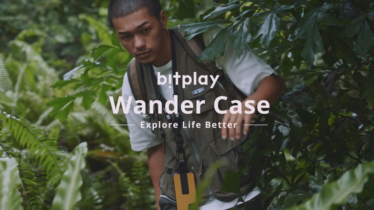 bitplay Wander Case iPhone 12 Mini (5.4吋)專用 獨創支架扣環掛繩軍規防摔立扣殼▲淺綠 product video thumbnail