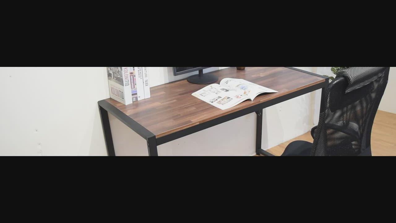 凱堡 木紋風128x60x77cm工作桌/電腦桌(附鍵盤架) product video thumbnail