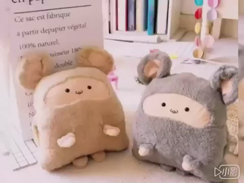 Beroso 倍麗森 柔軟多功能保暖倉鼠抱枕毛毯-兩色可選 product video thumbnail