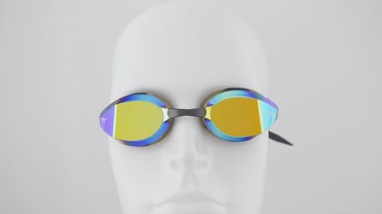 美國TYR FINA認證成人用競速電鍍泳鏡 Edge-X Racing Mirrored Adult Fit product video thumbnail
