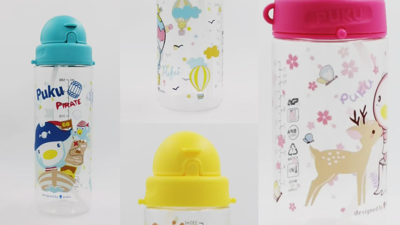 【PUKU】Tritan滑蓋水壺500ml product video thumbnail