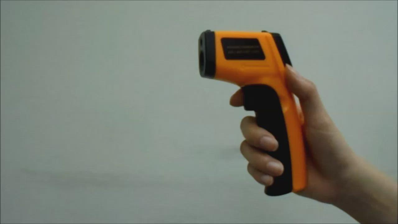 不可量人體【EC-12】紅外線測溫槍【高階版 -50℃~380℃】雷射測溫槍測溫儀 油溫水溫 電子溫度計 product video thumbnail