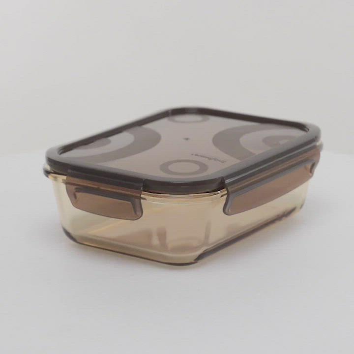 獨家-Snapware康寧密扣 琥珀色耐熱玻璃保鮮盒超值7件組 product video thumbnail