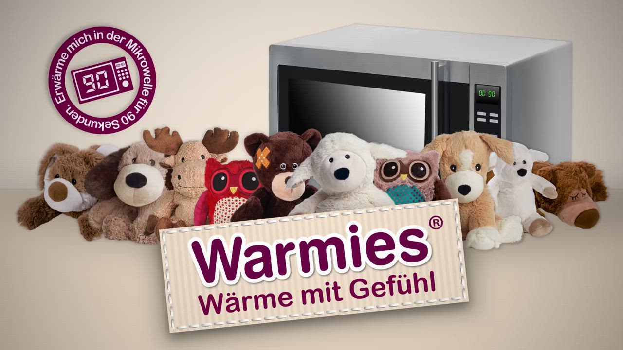 Warmies安撫香芬絨毛娃娃(八款可選) product video thumbnail