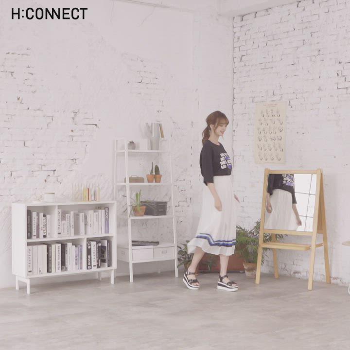 H:CONNECT 韓國品牌 女裝-撞色裙擺百摺長裙-白 product video thumbnail