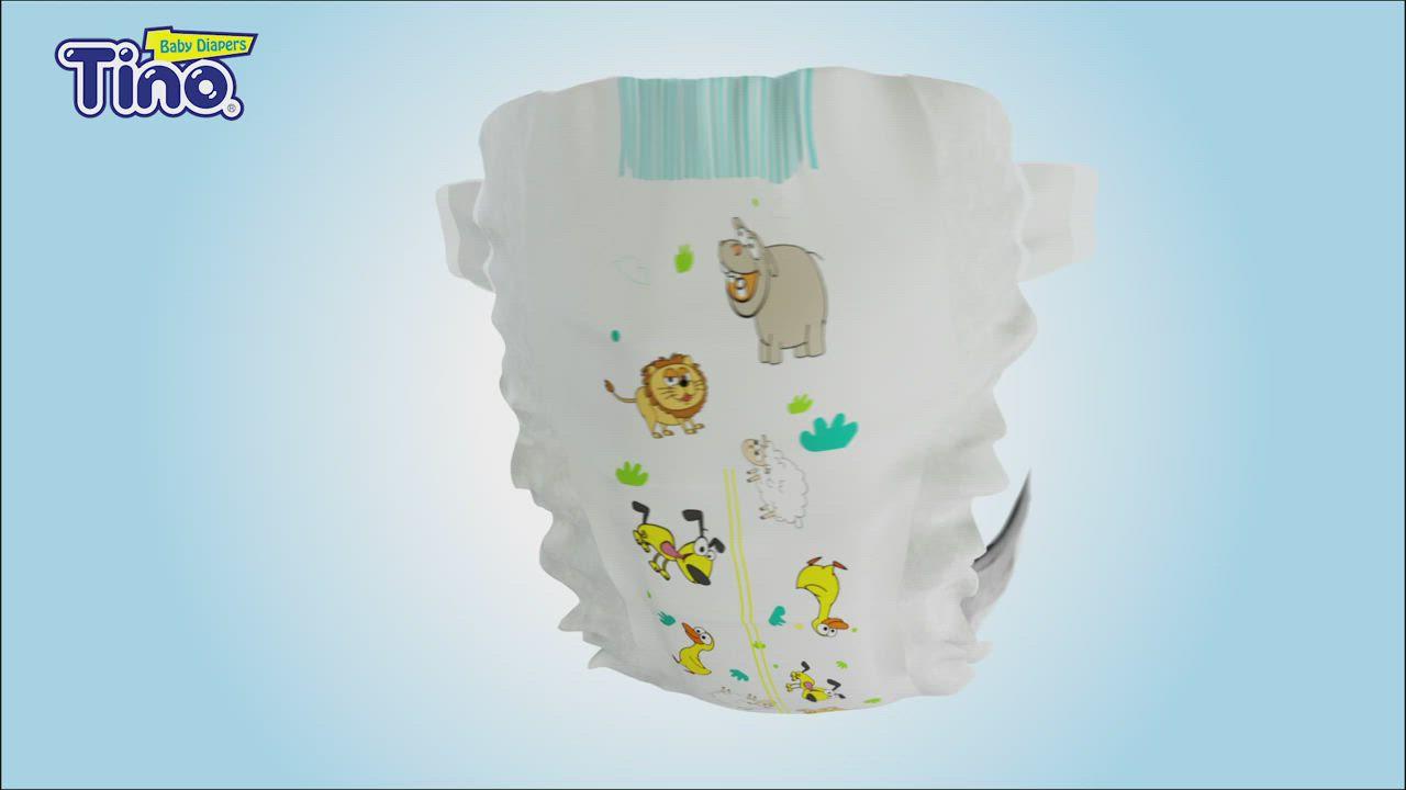 Tino 頂級柔棉4D空氣感嬰兒紙尿褲XL號 黏貼型箱購 (24片x4包/箱) product video thumbnail
