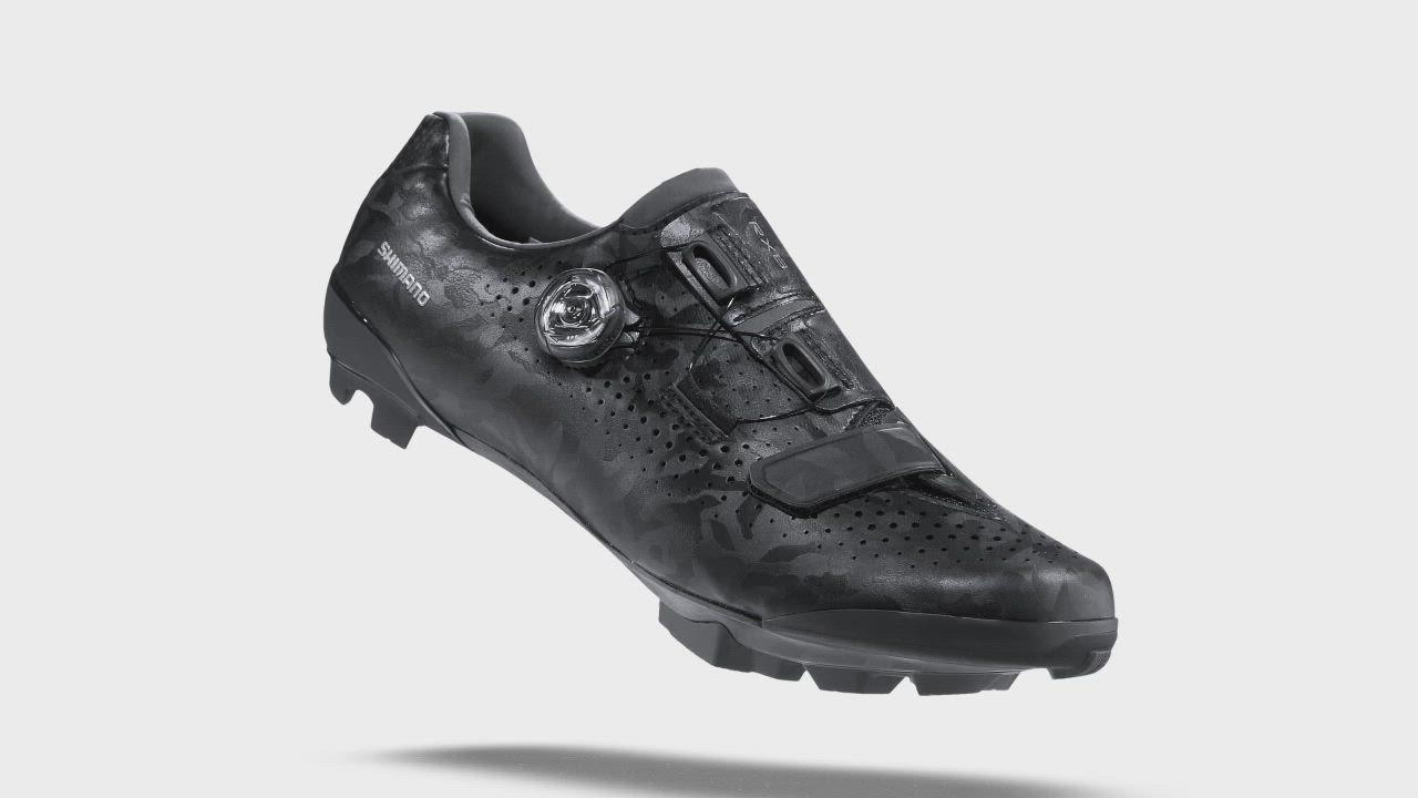 【SHIMANO】RX800 碳纖維複合 GRAVEL 車鞋 黑色 product video thumbnail