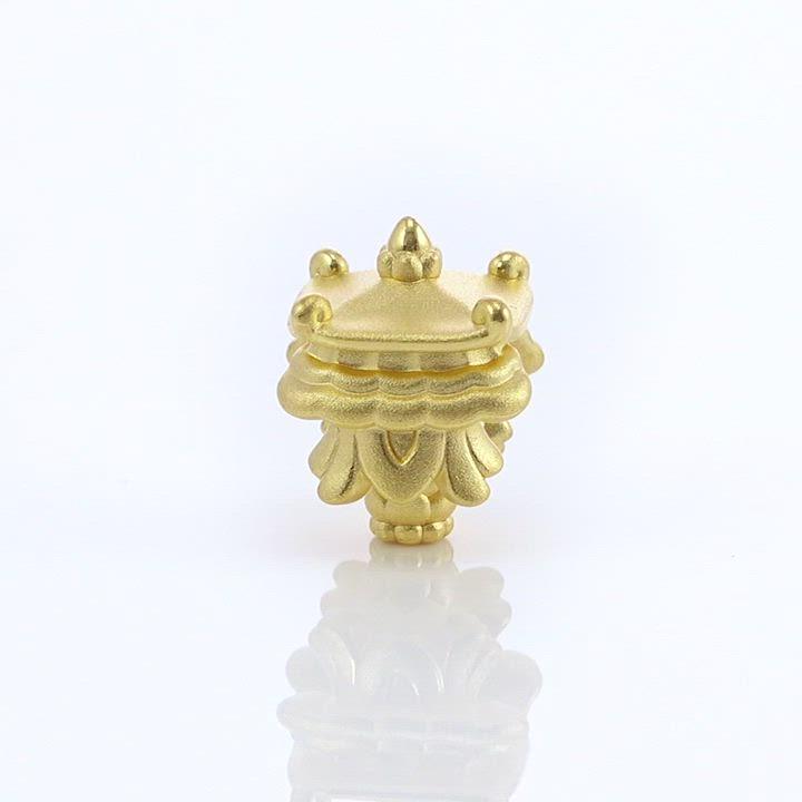 (送5%超贈點)點睛品 999純金 Charme 文化祝福 八瑞相寶傘 黃金串珠 product video thumbnail