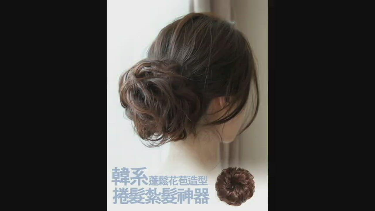 Conalife 蓬鬆造型加厚仿真捲髮大髮圈_1入 product video thumbnail