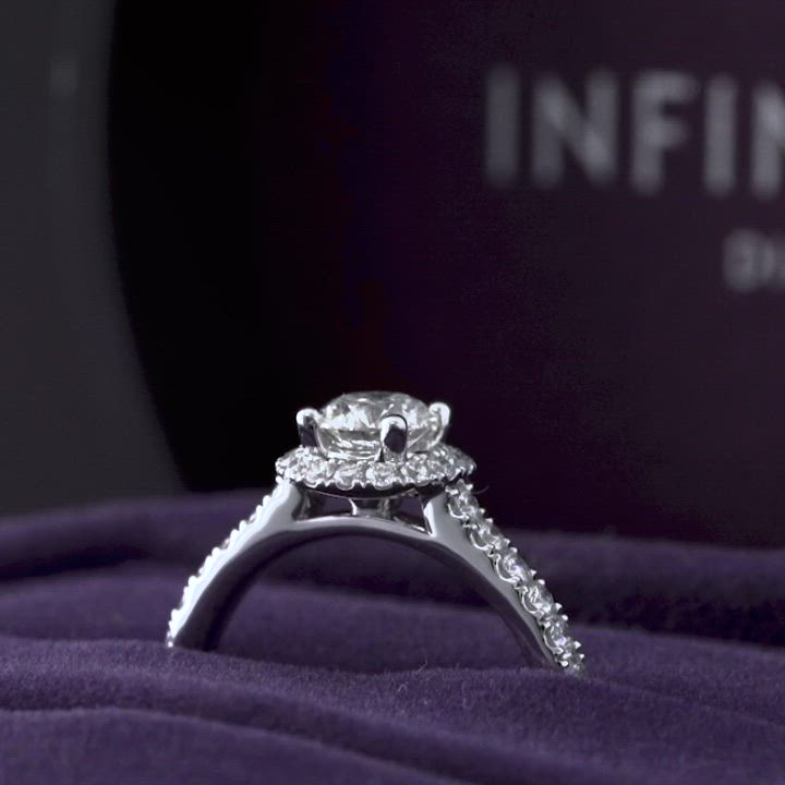 點睛品Infini Love Diamond婚嫁系列0.5克拉鉑金鑽石戒指 product video thumbnail