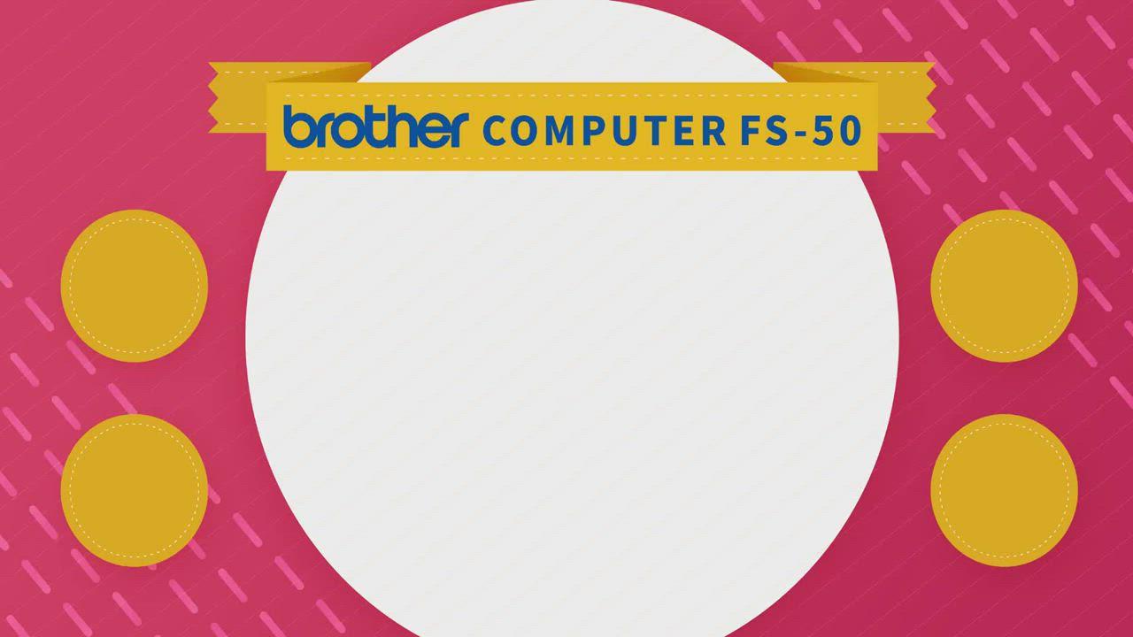 館長推薦 日本brother Angel Code 電腦型縫紉機 FS-50(單機) product video thumbnail