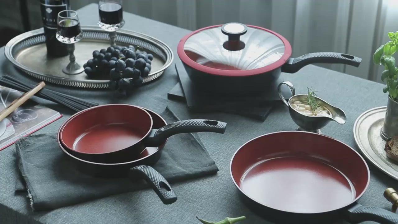 韓國NEOFLAM De Chef系列 陶瓷不沾炒鍋28cm+玻璃蓋(電磁) product video thumbnail