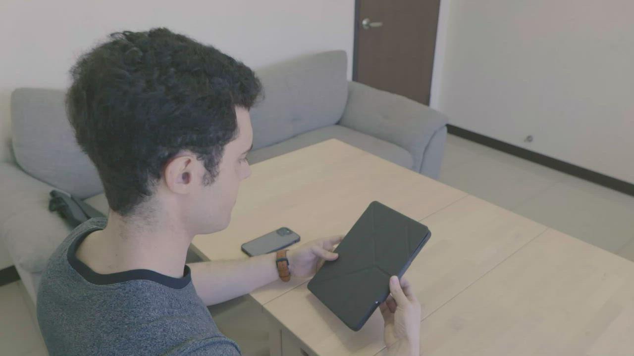 JTL / JTLEGEND iPad Pro 2021 Amos 11吋 相機快取多角度折疊布紋皮套(有Apple pencil磁扣-無筆槽) product video thumbnail