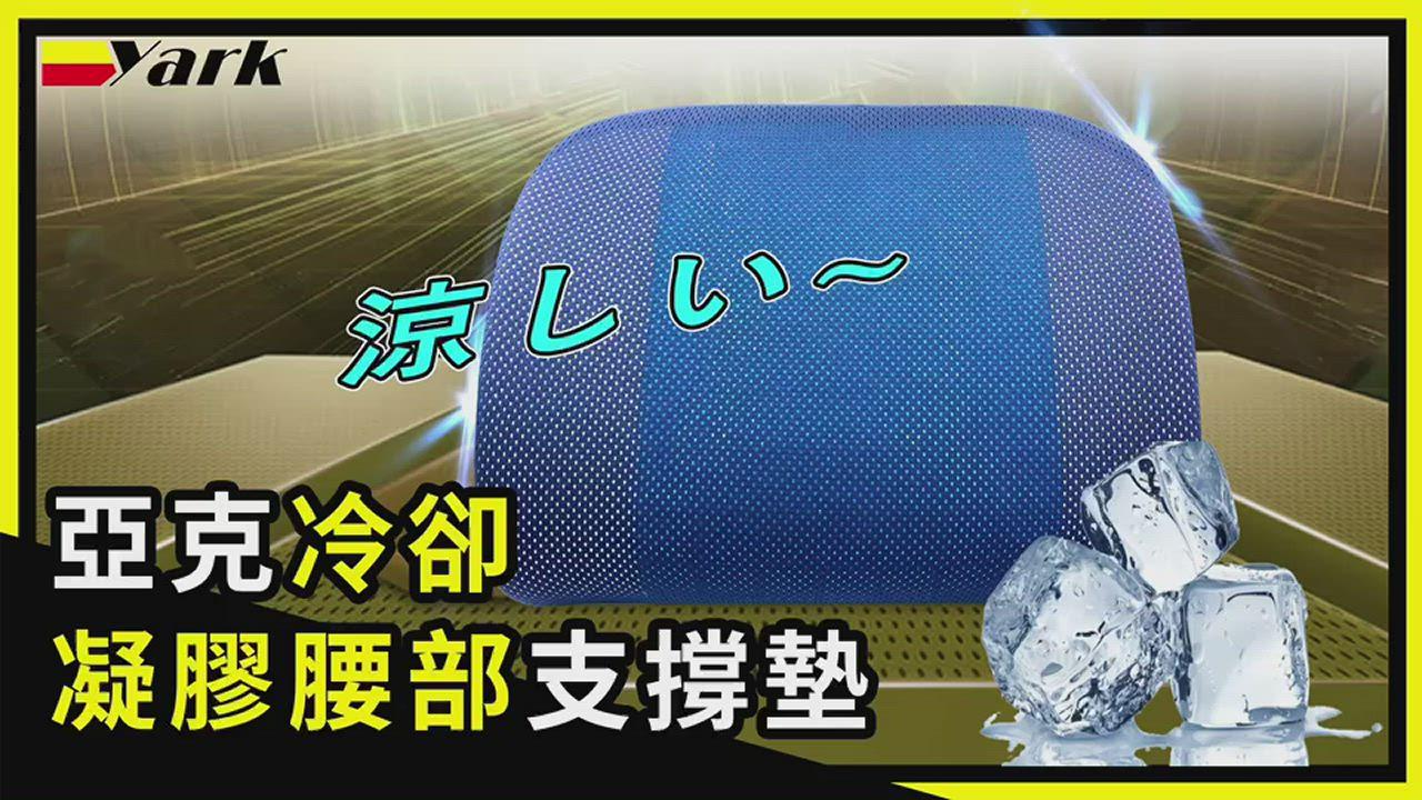 亞克冷卻凝膠腰部支撐墊 (WU-12) 腰靠 | 靠墊 | 腰枕 product video thumbnail