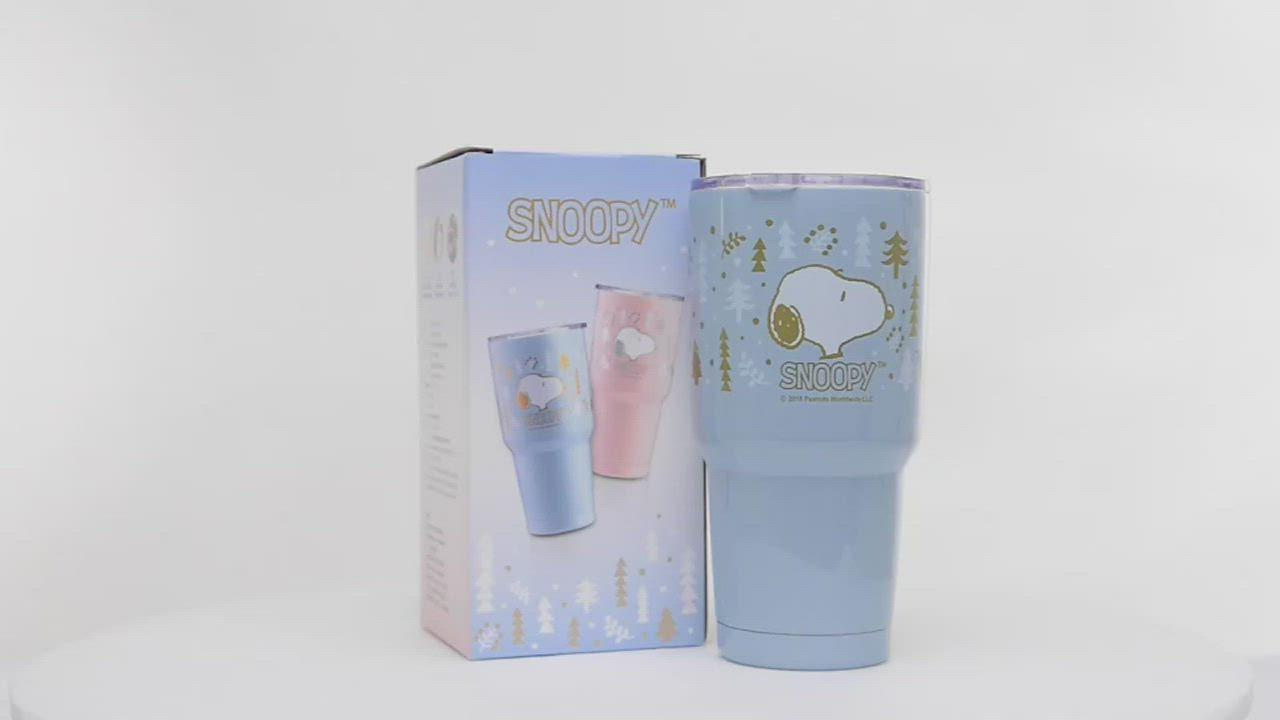 [買一送一]史努比陶瓷保溫杯套組900ml(粉) 送史努比陶瓷保溫杯套組900ml(藍) product video thumbnail