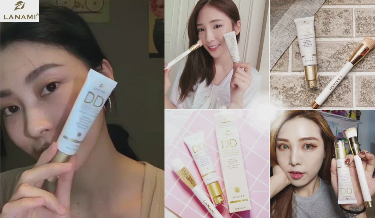 LANAMI 瓷肌粉漾DD防曬隔離霜SPF50★★(3入) product video thumbnail