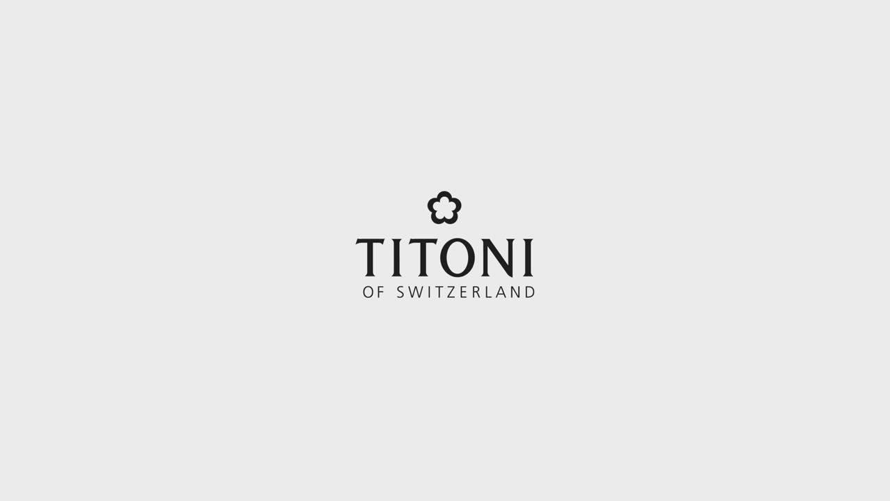 TITONI瑞士梅花錶 炫美時尚快拆系列/珍珠母貝/香檳金皮帶/33.5mm (23978 S-STC-622) product video thumbnail
