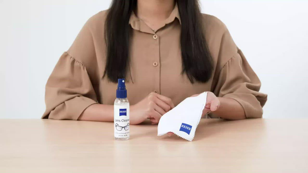 蔡司 Zeiss 專業鏡面抗菌清潔噴霧組/60ml + 防霧抗菌拭鏡紙x50張 product video thumbnail