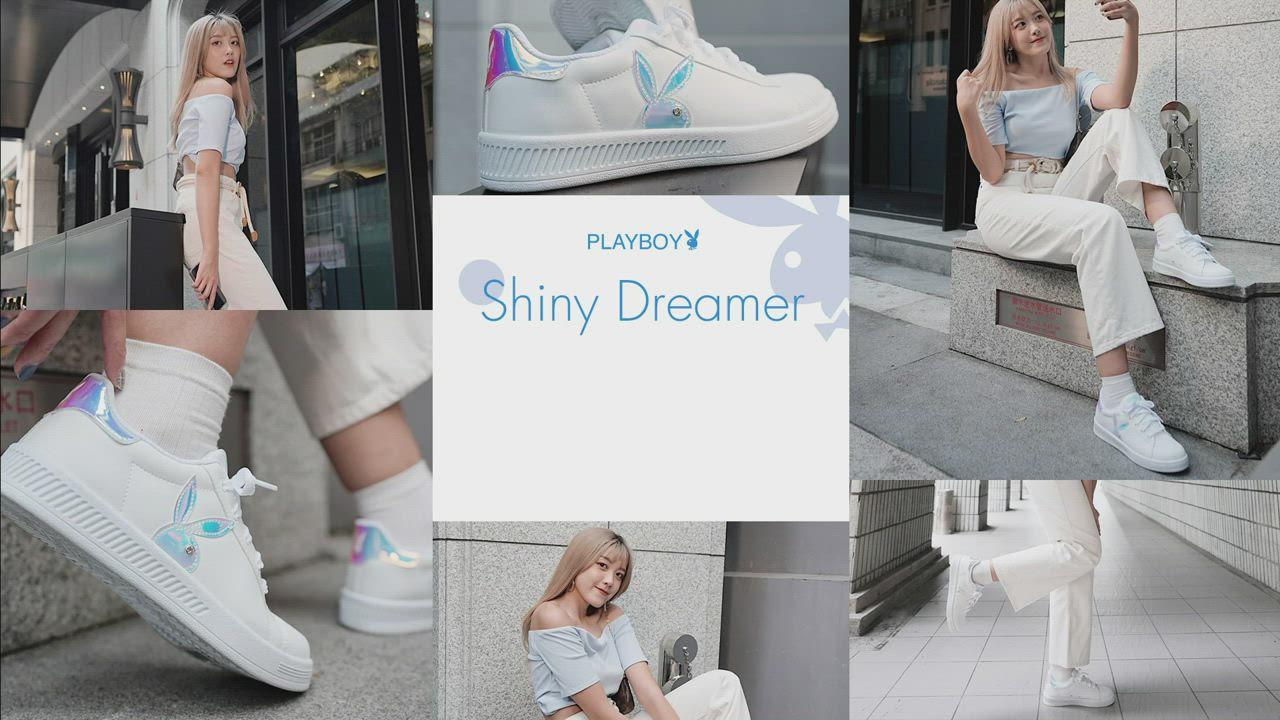 PLAYBOY  閃閃霓光貝殼小白鞋 -白貝殼-Y72211K product video thumbnail