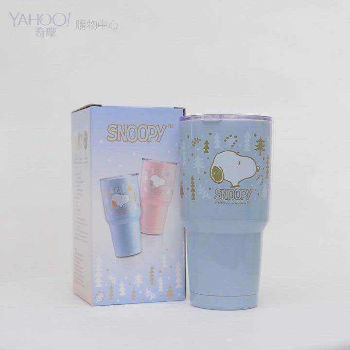 [買一送一]史努比下雪森林#304不鏽鋼陶瓷內膽真空保溫杯900ml product video thumbnail