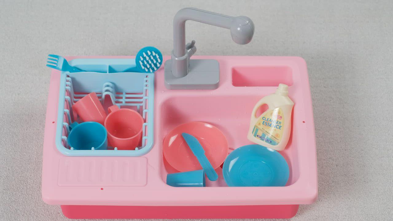 CuteStone 兒童溫變廚房洗澡玩具 (粉紅色) product video thumbnail