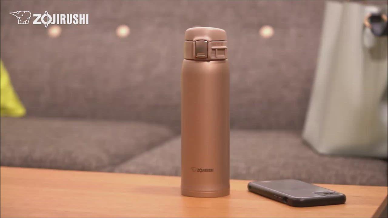 象印*0.6L*超輕量OneTouch不鏽鋼真空保溫杯(SM-TA60) product video thumbnail