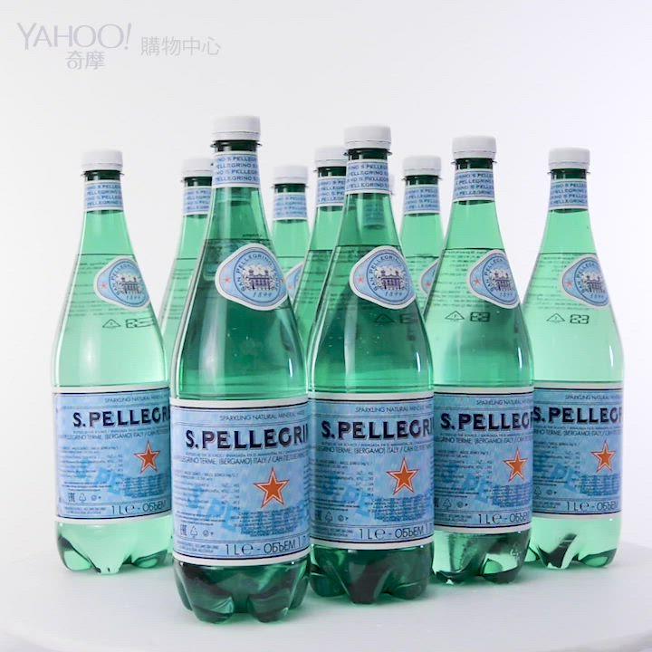S.Pellegrino聖沛黎洛 天然氣泡礦泉水-寶特瓶(1000mlx12入) product video thumbnail