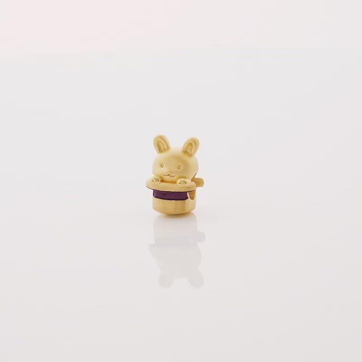 點睛品 Charme 帽子小兔 黃金串珠 product video thumbnail