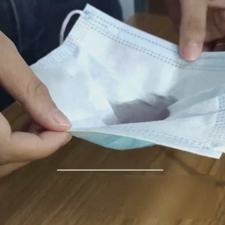 HANLIN 高密度熔噴三層防護口罩(50入/盒) product video thumbnail
