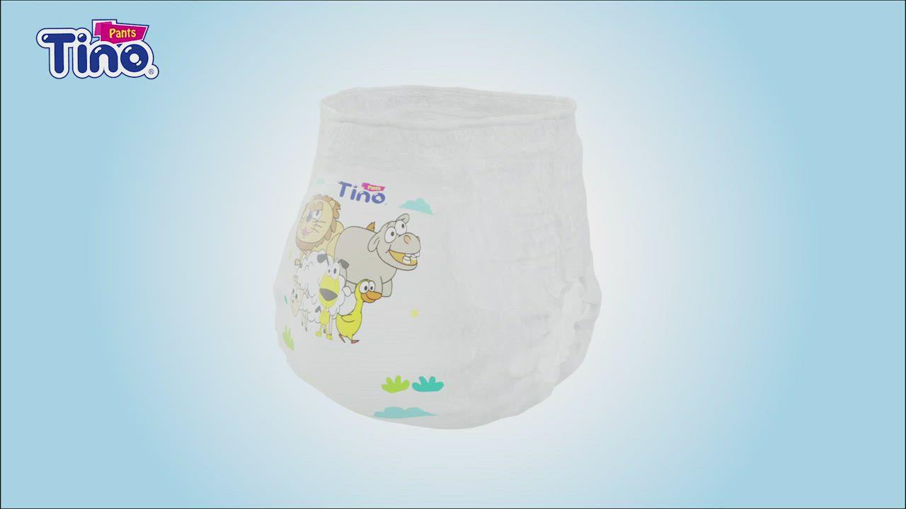 Tino 頂級柔棉4D空氣感嬰兒提拉褲L號 褲型箱購 (36片x4包/箱) product video thumbnail